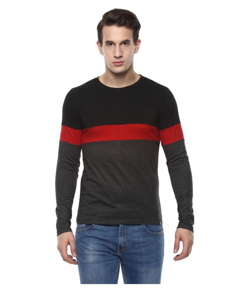 Urbano Fashion Black Full Sleeve T-Shirt Pack of 1