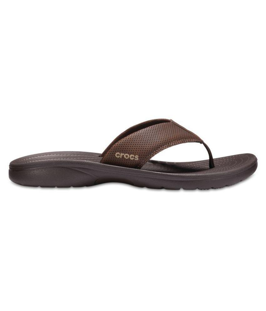 5bfe006dd Crocs Brown Thong Flip Flop Price in India- Buy Crocs Brown Thong Flip Flop  Online at Snapdeal
