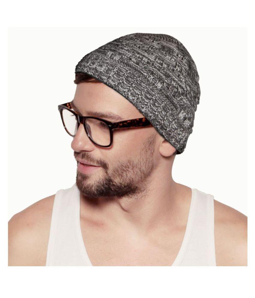 Hupshy Gray Wool Caps