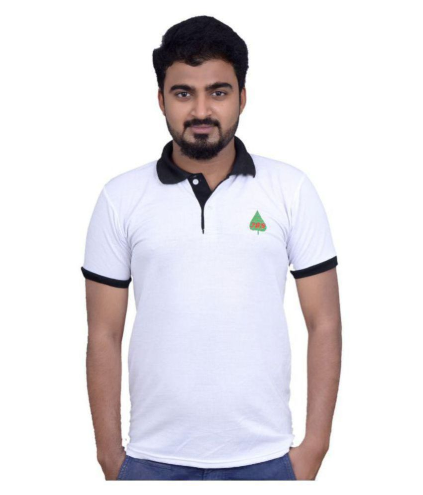 JBS White Half Sleeve T-Shirt