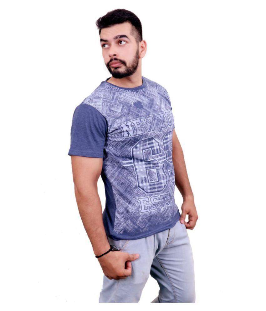 DIZI Blue Half Sleeve T-Shirt