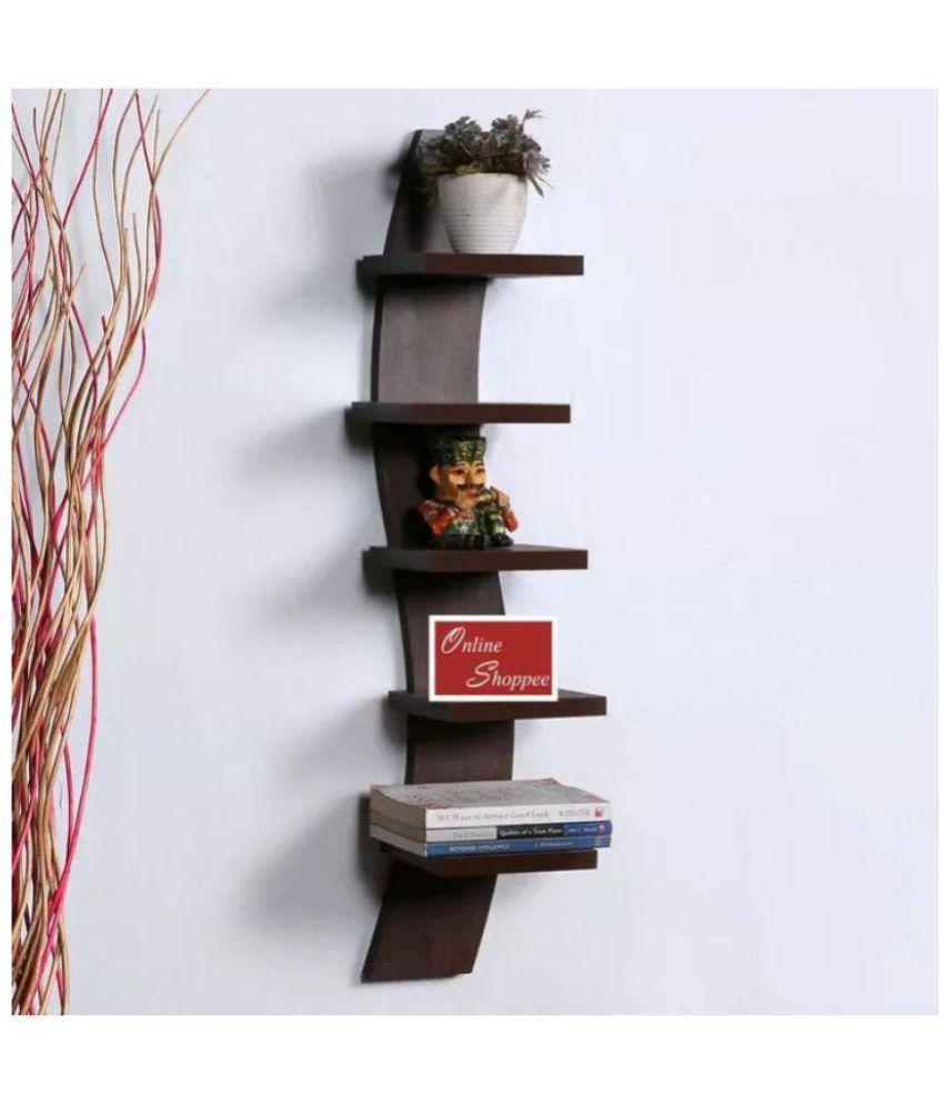 Onlineshoppee Floating Shelves Brown MDF - Pack of 1