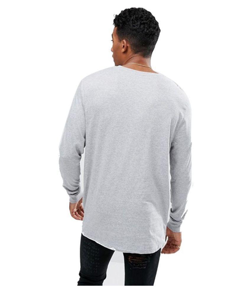 PAUSE White Full Sleeve T-Shirt Pack of 1