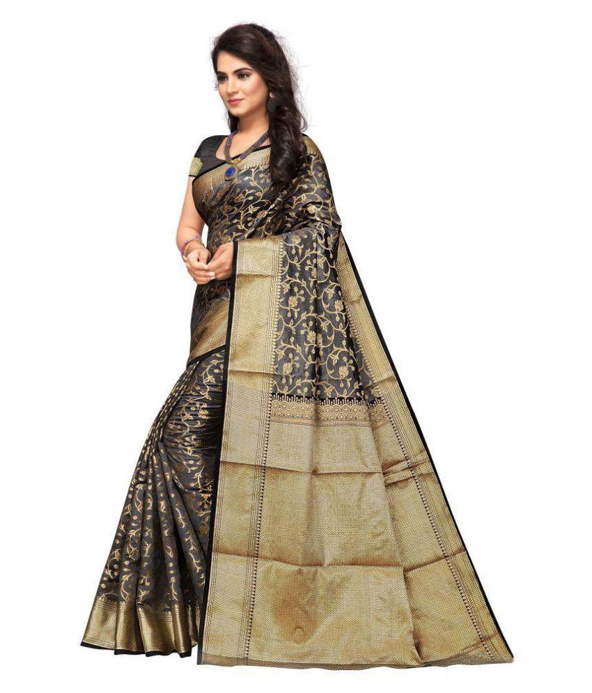 Saathiya sarees Grey Art Silk Saree