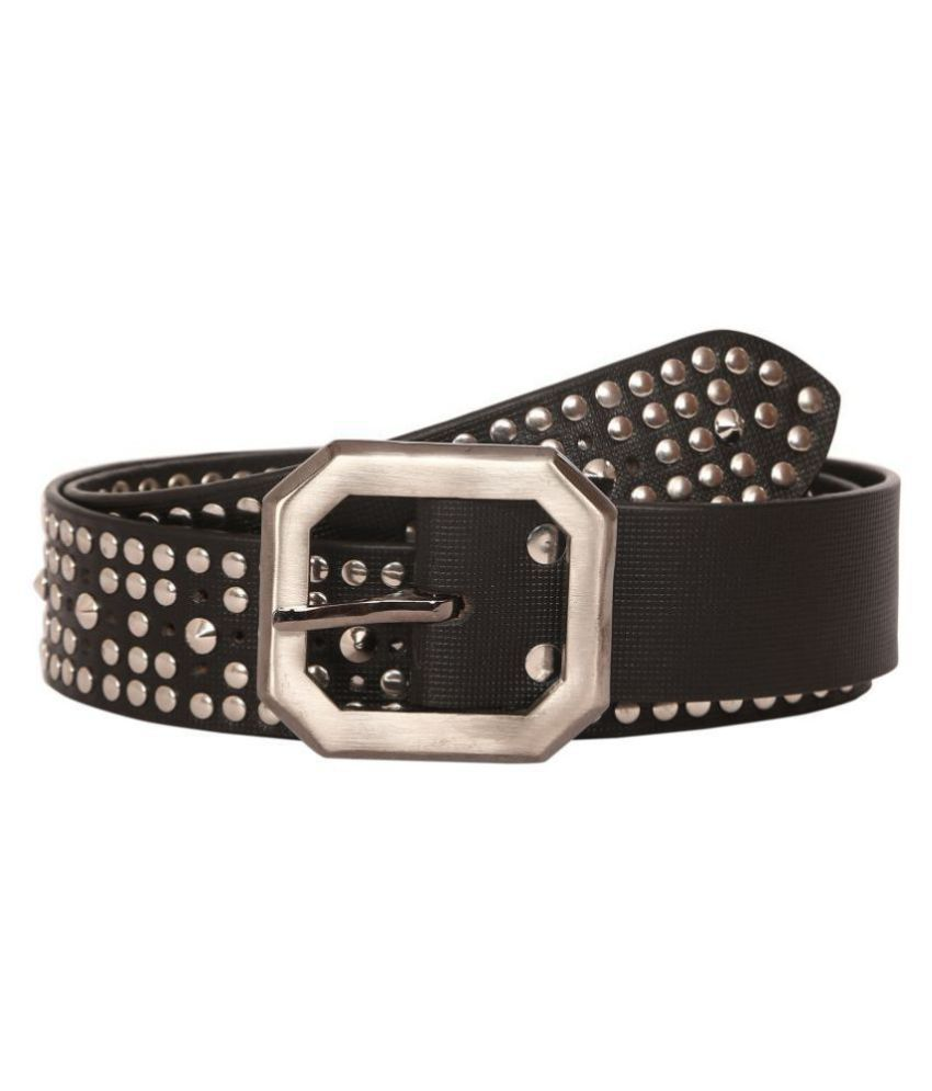 Scharf Black Leather Casual Belt - Pack of 1