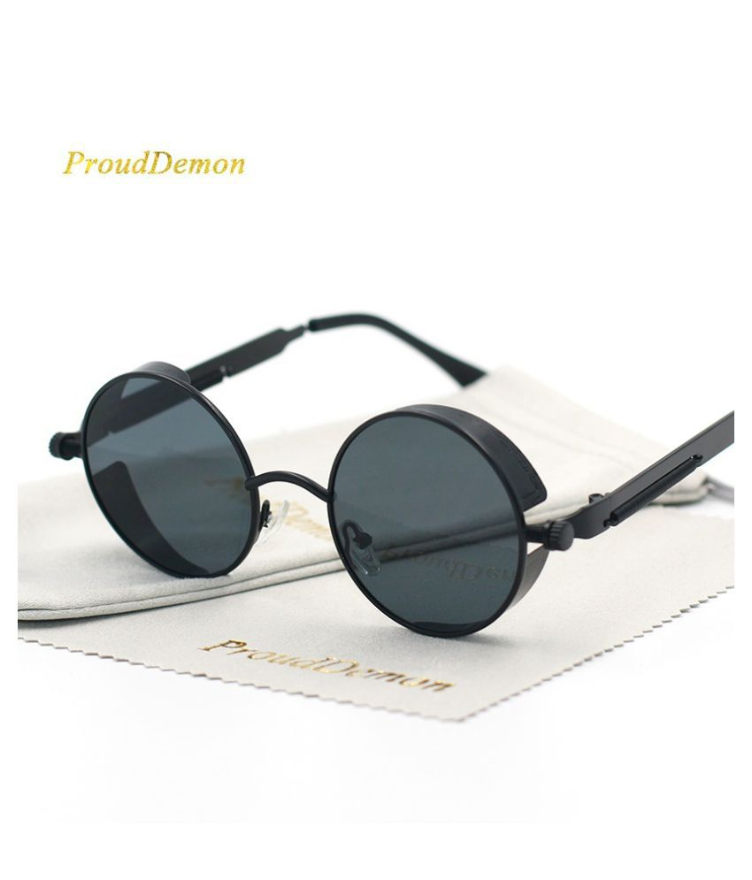Swagger Gothic Steampunk Mens Sunglasses Coating Mirrored Round Circle Sun glasses Vintage Sold by ZXG