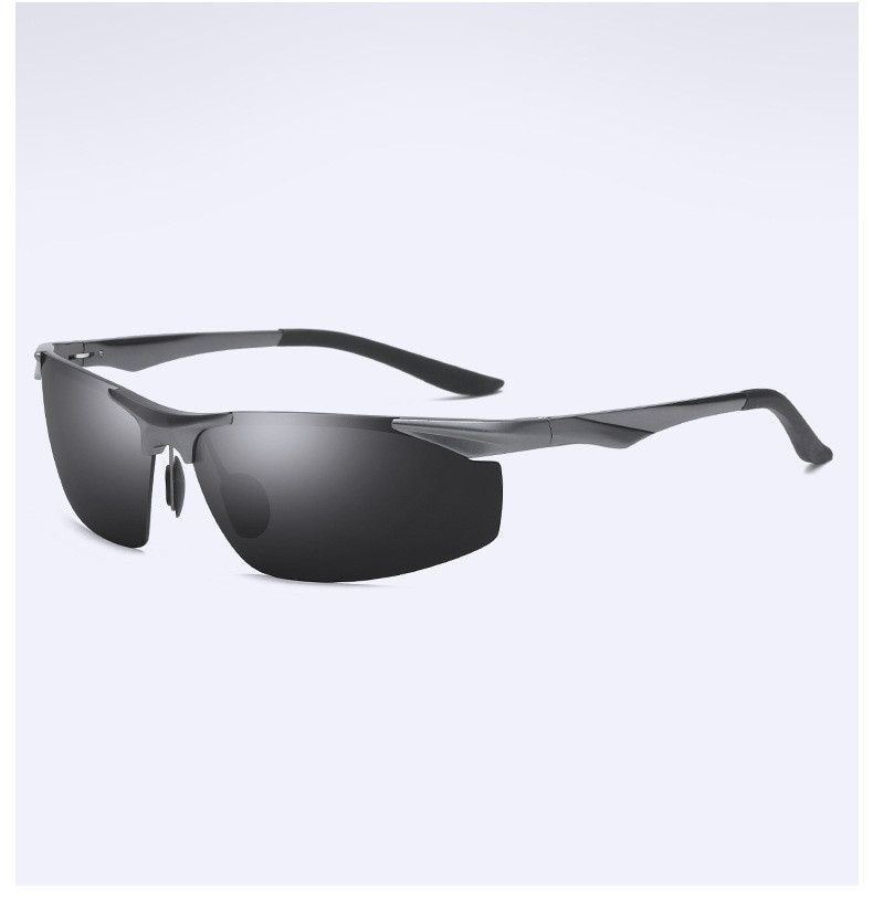 Swagger Half Frame Unisex Sunglasses Aluminum Magnesium Polarized Sunglasses Sport Fishing Driving Glasses Sold by ZXG