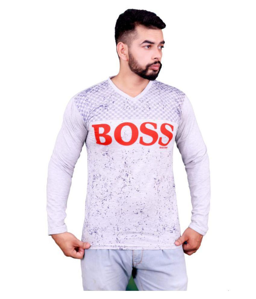 DIZI Grey Full Sleeve T-Shirt