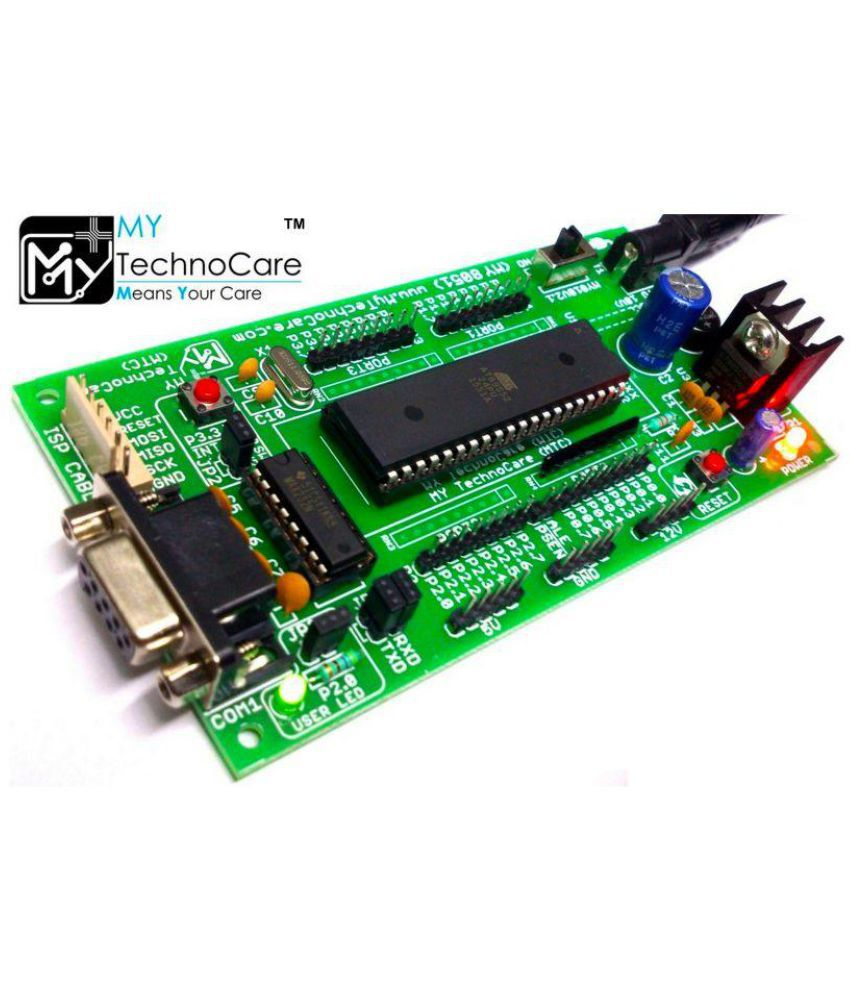 My Technocare Atmel 8051 Development Board Project Evaluation Circuit Microcontroller Kit Max232at89s52 Ic