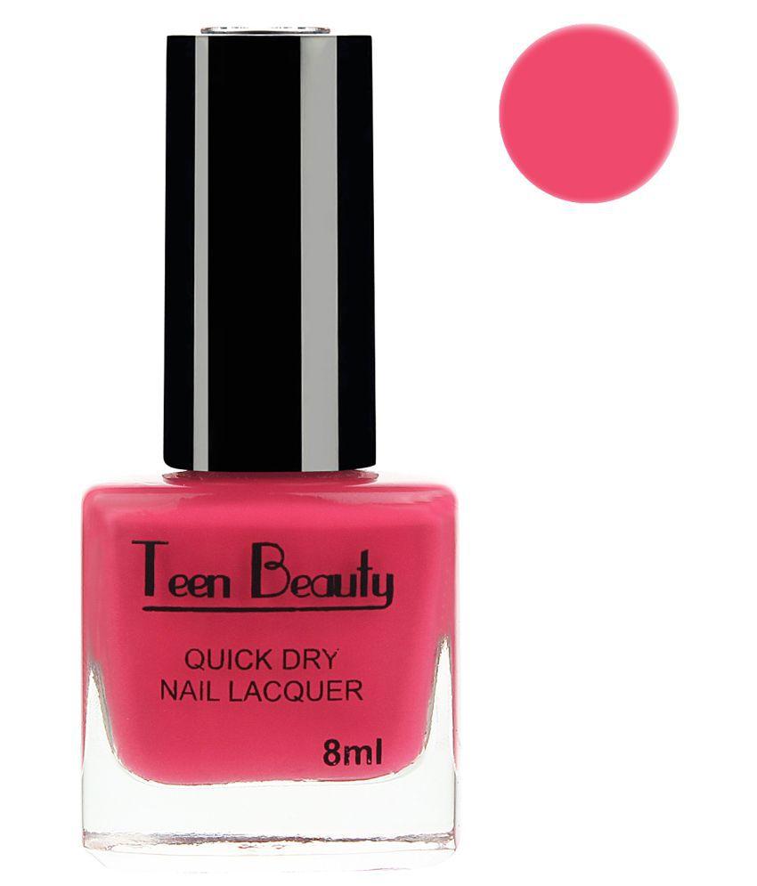 Teen Beauty Nail Polish Hot Pink Glossy 8 ml ml