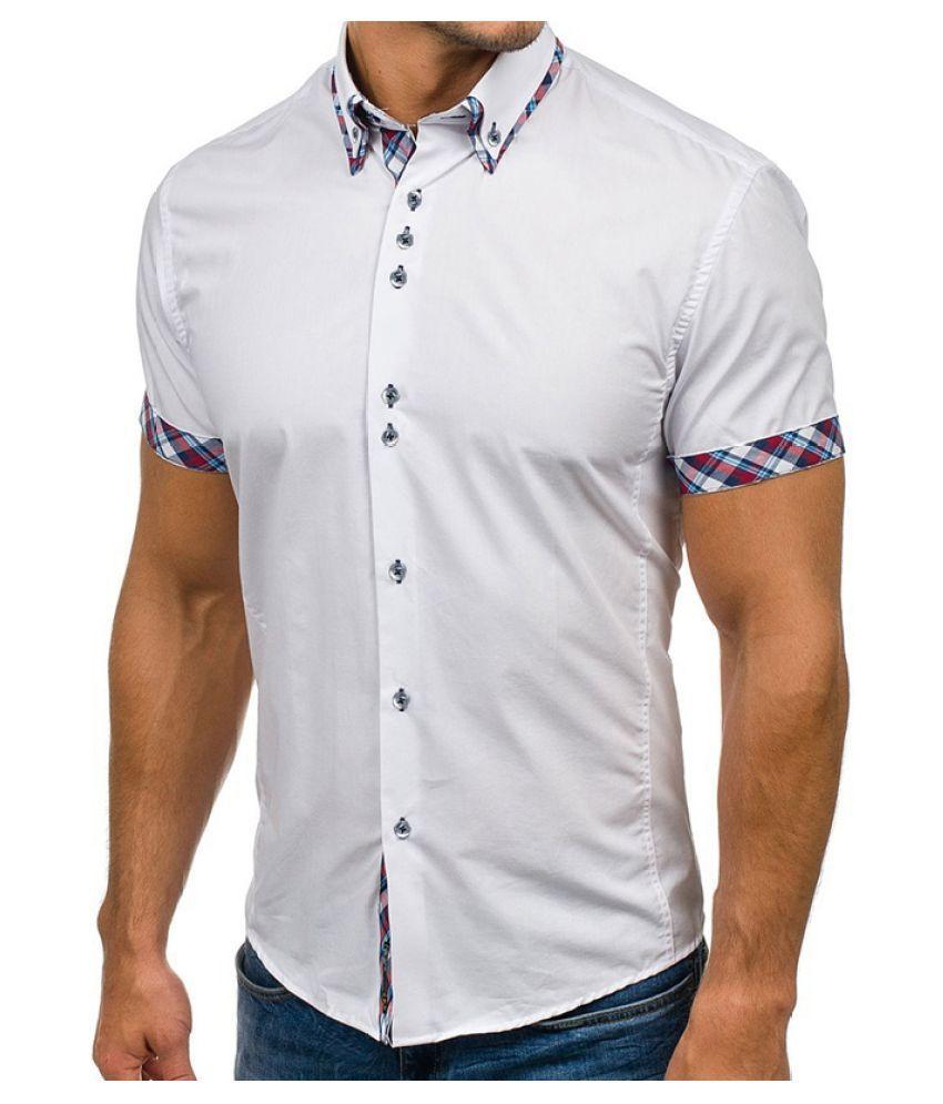 Changing Destiny White Cotton Polo T-Shirt Single Pack