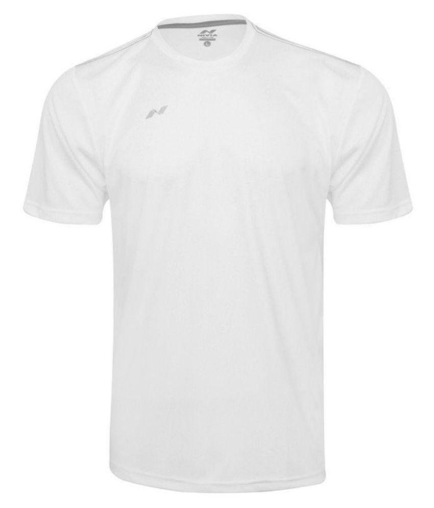 Nivia White Polyester Jersey-2205M1