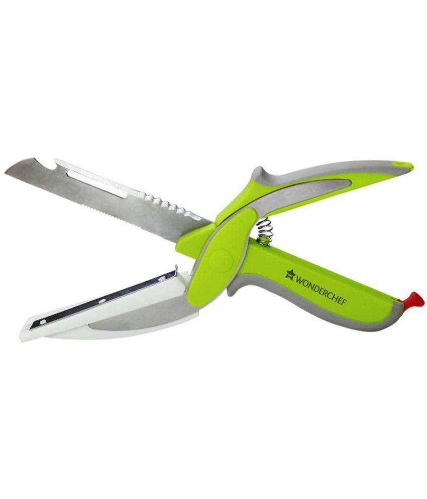 Wonderchef 6-in-1 Scissor with Smart-Support Stainless Steel Vegetable Scissor - Length of Blade (in cm)