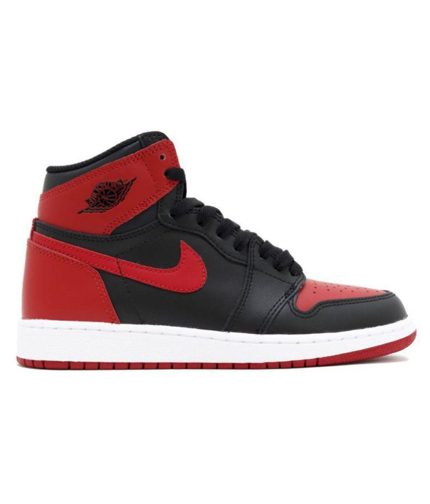 timeless design 443f2 98287 AIR JORDAN Retro 1 Red Basketball Shoes - Buy AIR JORDAN Retro 1 Red Basketball  Shoes Online at Best Prices in India on Snapdeal