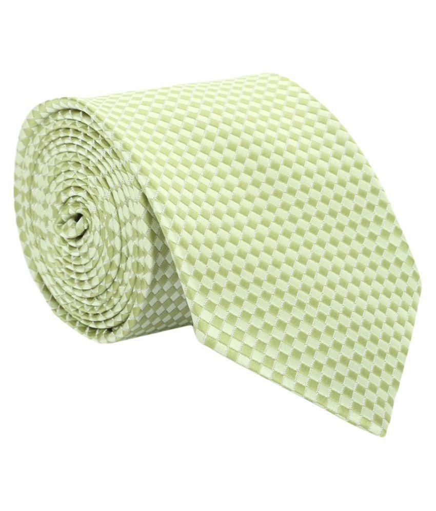 Alvaro Castagnino Green Printed Micro Fiber Necktie