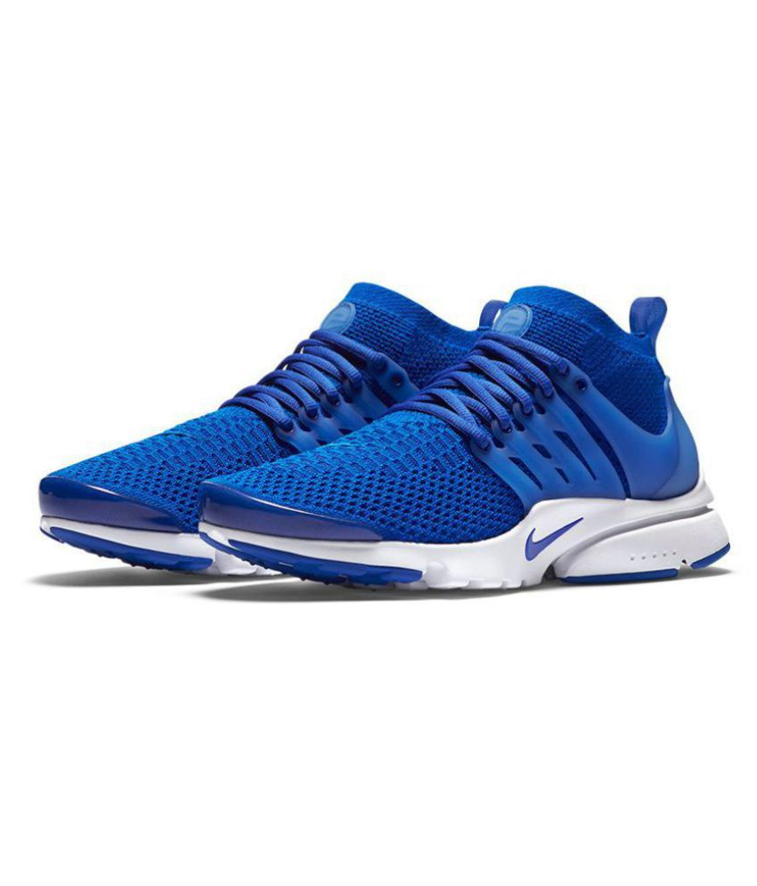 d15bdf201ad219 Nike Air Presto Flyknit Blue Running Shoes - Buy Nike Air Presto Flyknit Blue  Running Shoes Online at Best Prices in India on Snapdeal