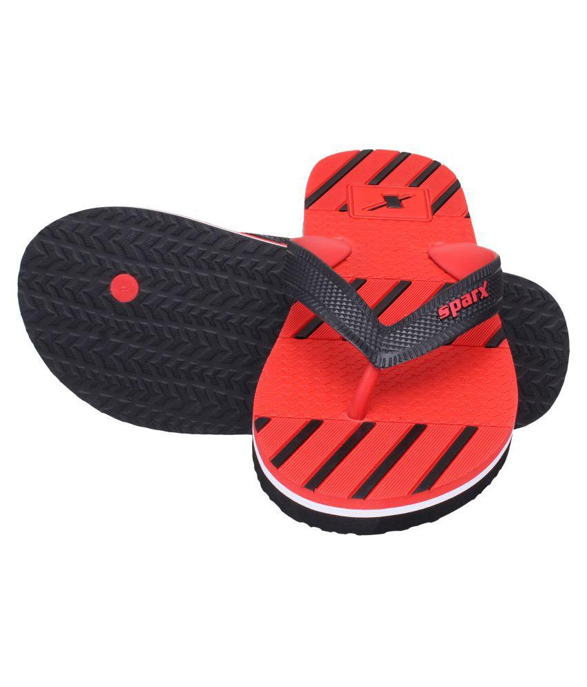 94cff343e51a Sparx Men SFG-2087 Red Thong Flip Flop Price in India- Buy Sparx Men ...