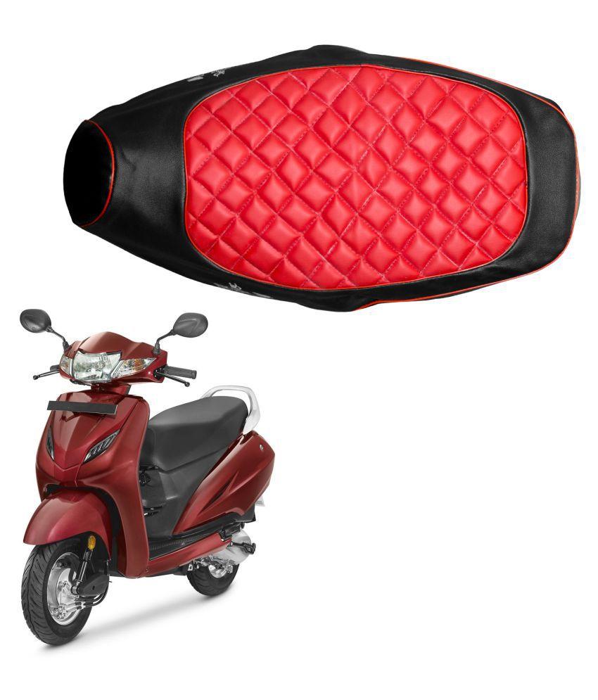 Fabulous Autofy Seat Cover For Honda Activa 4G Black And Red Evergreenethics Interior Chair Design Evergreenethicsorg