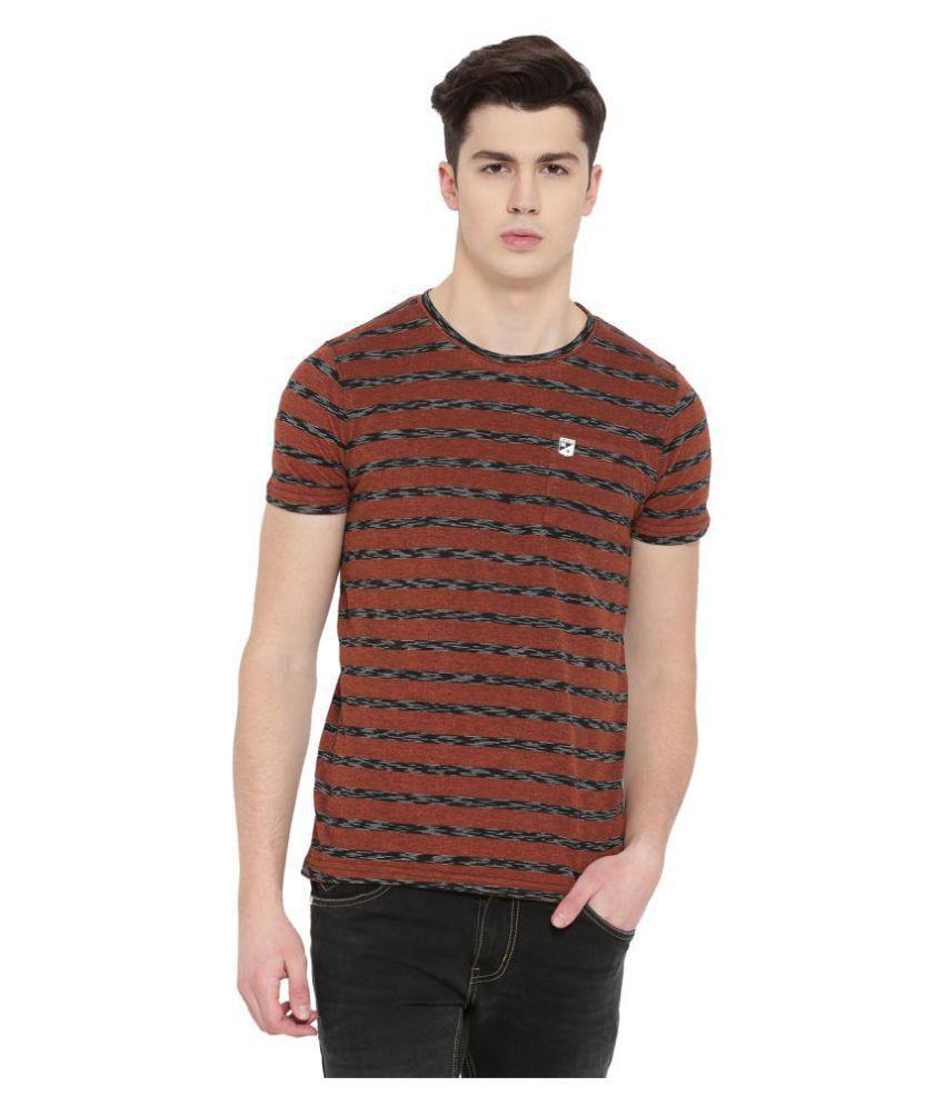 Duke Brown Half Sleeve T-Shirt