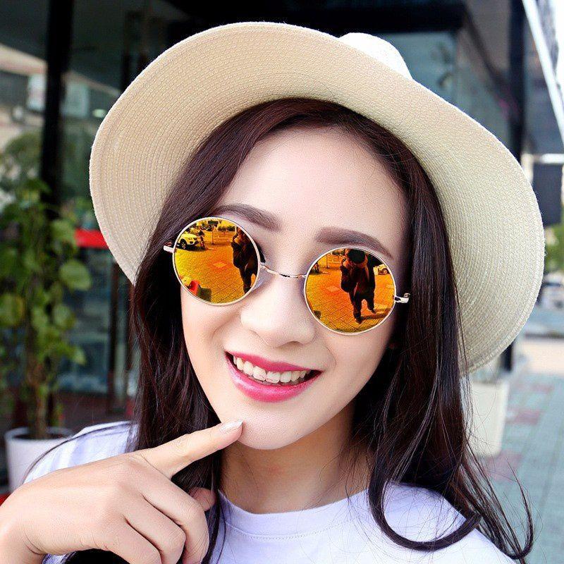 Swagger Vintage Men Women Sunglasses Hippie Retro Round Metal Eyeglasses Glasses Eyewear[<wish210 szsshenkaikeji>] Sold by ZXG
