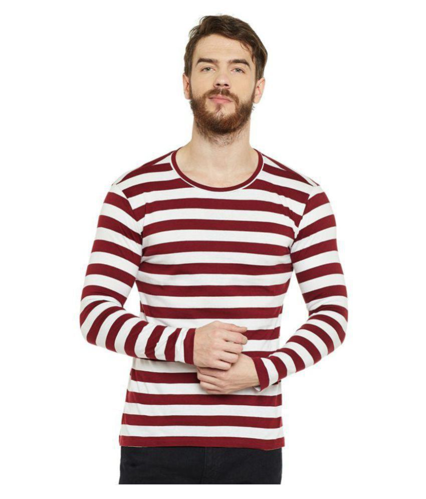 le bourgeois Maroon Full Sleeve T-Shirt Pack of 1