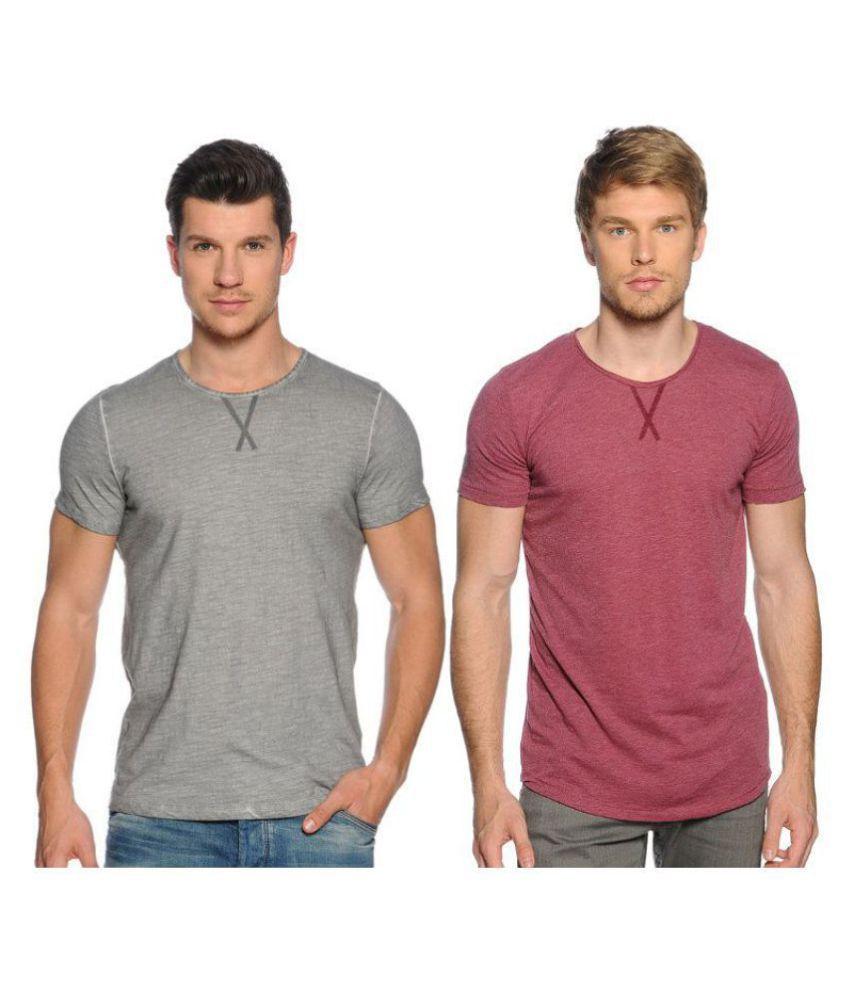 Zachi Pink Half Sleeve T-Shirt