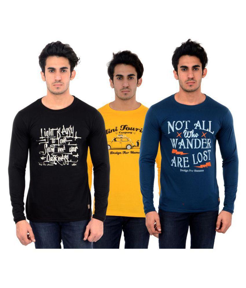 DFH Multi Full Sleeve T-Shirt Pack of 3