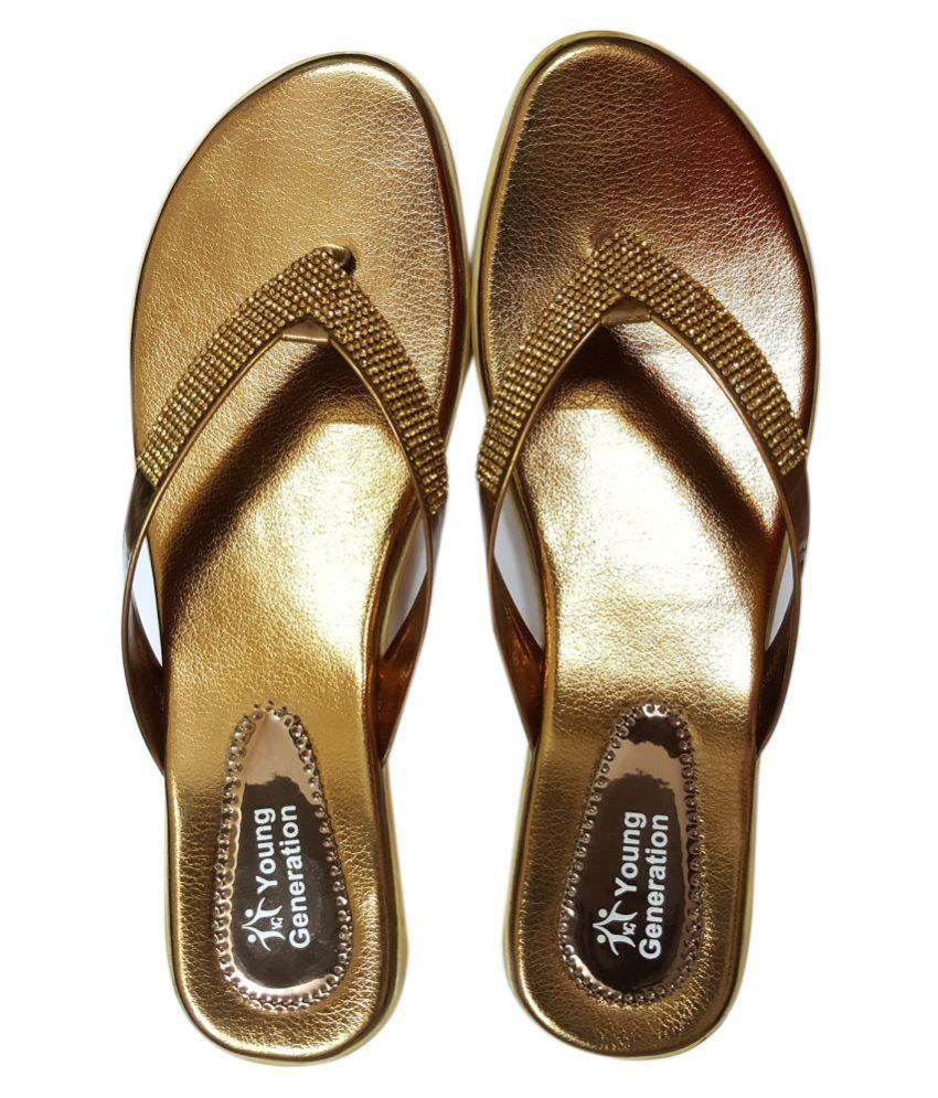 YG Products Gold Slippers