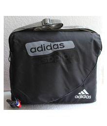 39324136b343 Quick View Adidas Na Black Nylon Casual Messenger Bag Side
