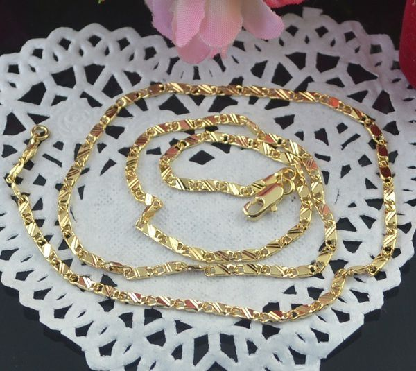 Kamalife Exquisite 18K Genuine Gold Filled Golden Chain Necklace 16-30