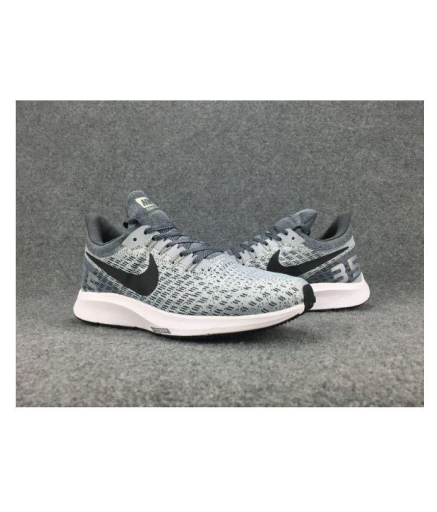 baea63a85be Nike AIR ZOOM PEGASUS 35 Grey Running Shoes - Buy Nike AIR ZOOM PEGASUS 35  Grey Running Shoes Online at Best Prices in India on Snapdeal
