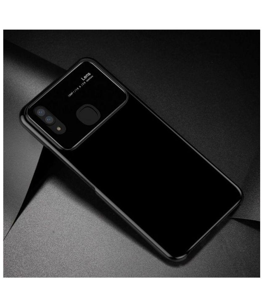 quality design 8c863 8cb50 Vivo V9 Hybrid Covers JMA - Black Smooth Luxury Ultra Thin Mirror Effect  Lens Case
