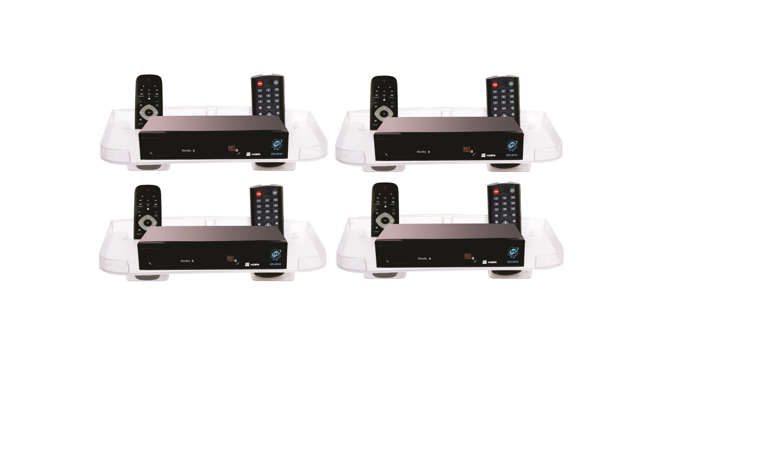 2ee059357d SSS - Set Top Box Stand set of 4 (Transparent) - Buy SSS - Set Top Box  Stand set of 4 (Transparent) Online at Best Prices in India on Snapdeal