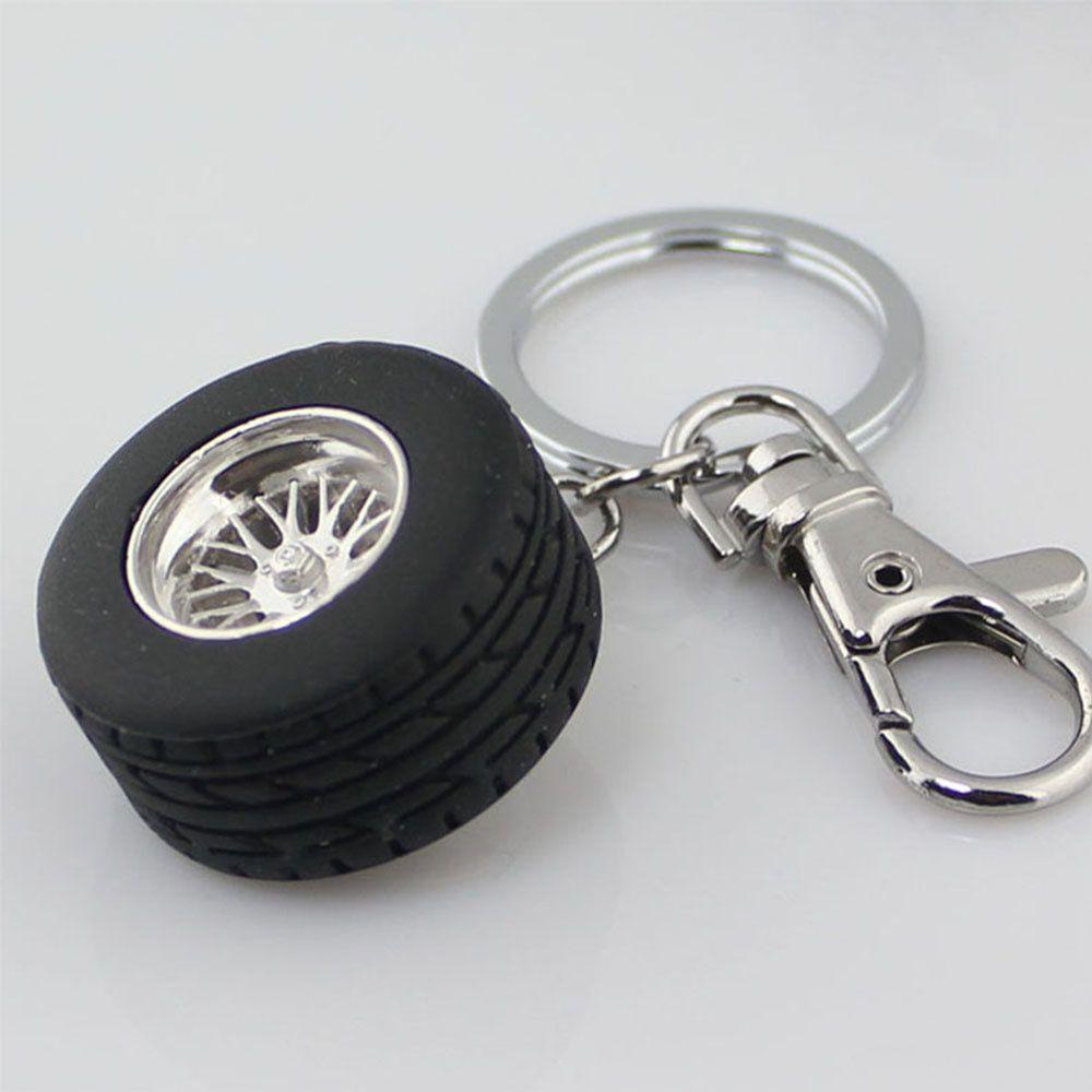 Charming New Arrival Auto Wheel Tire Alloy Aluminum Key Fob Key Chain Key Accessories Auto Racing Tire Models Key Ring Jewelry