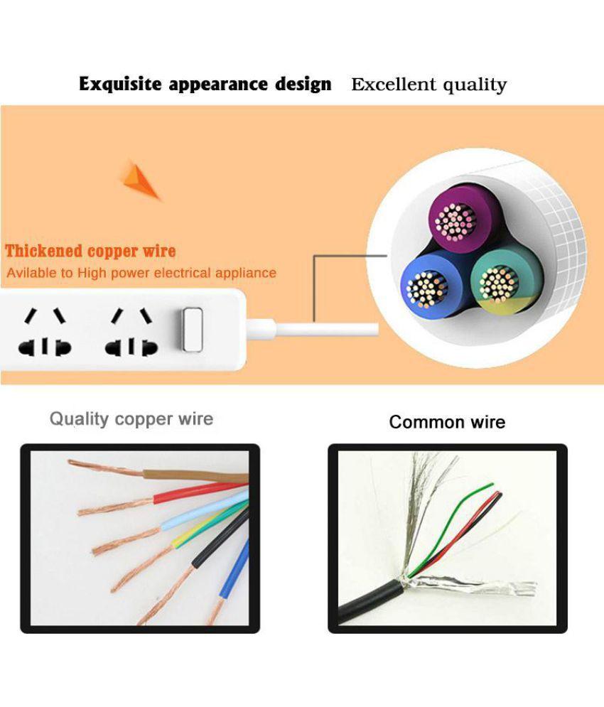 Buy Leory Power Strip Smart Socket Eu Uk Plug 18m 2 Universal Orange Usb Wire Diagram Outlet 3