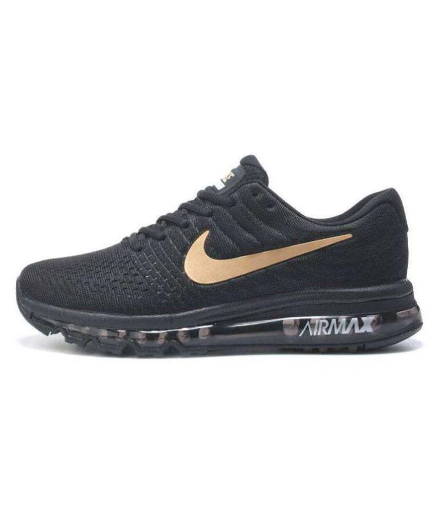 102c4405e9 Nike Air Max 2017 Black Running Shoes - Buy Nike Air Max 2017 Black Running  Shoes Online at Best Prices in India on Snapdeal