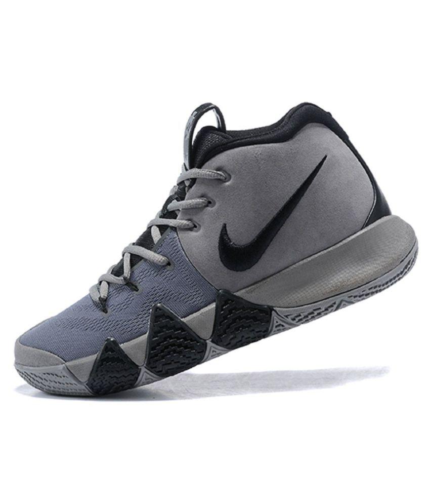 ed3a1c21b749 Nike Kyrie 4 Gray Basketball Shoes Nike Kyrie 4 Gray Basketball Shoes ...