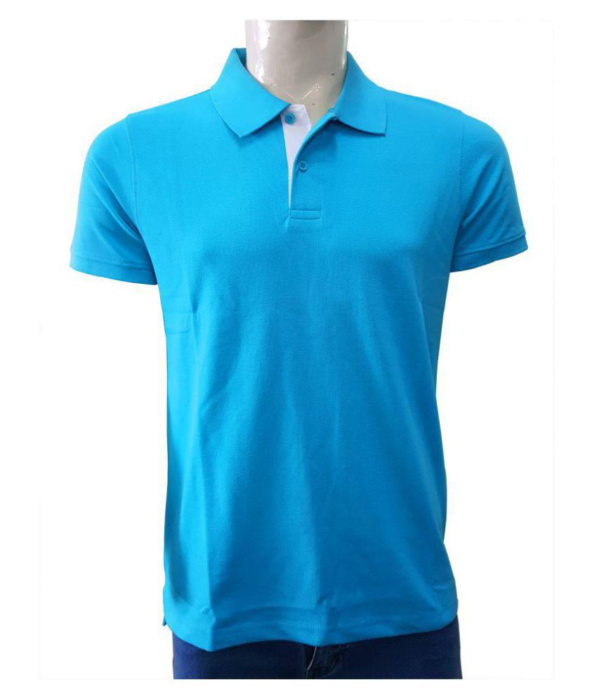 SEVEN by M.S. Dhoni Blue Half Sleeve T-Shirt