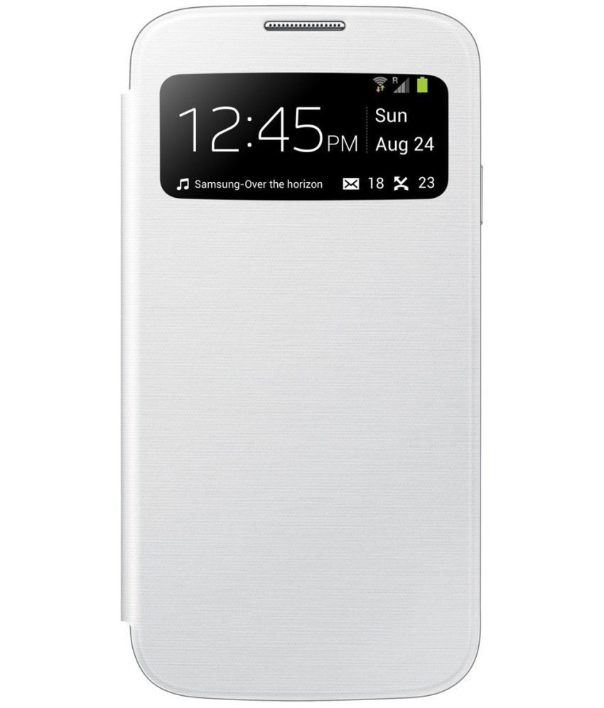 Samsung Galaxy S5 Flip Cover by Shanice - White Flip Cover
