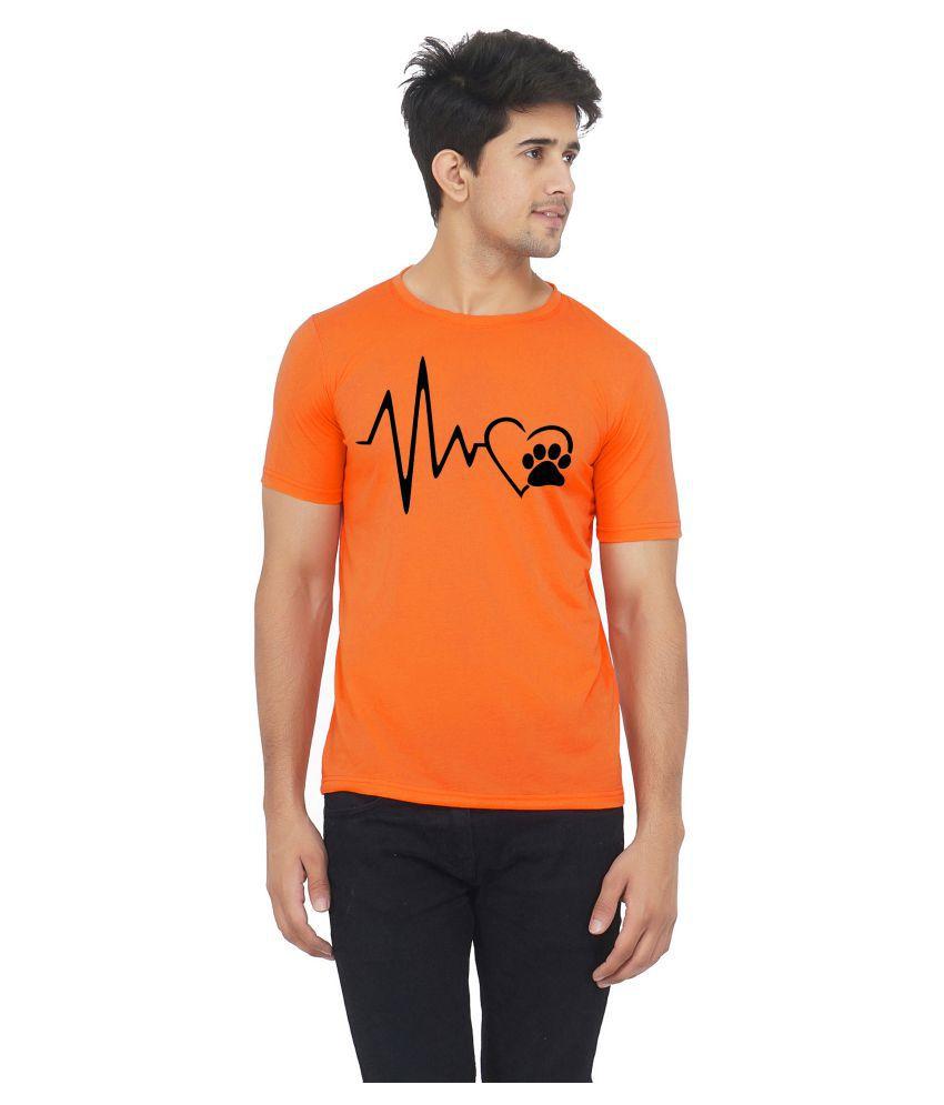 M R MARC ROSE Orange Half Sleeve T-Shirt