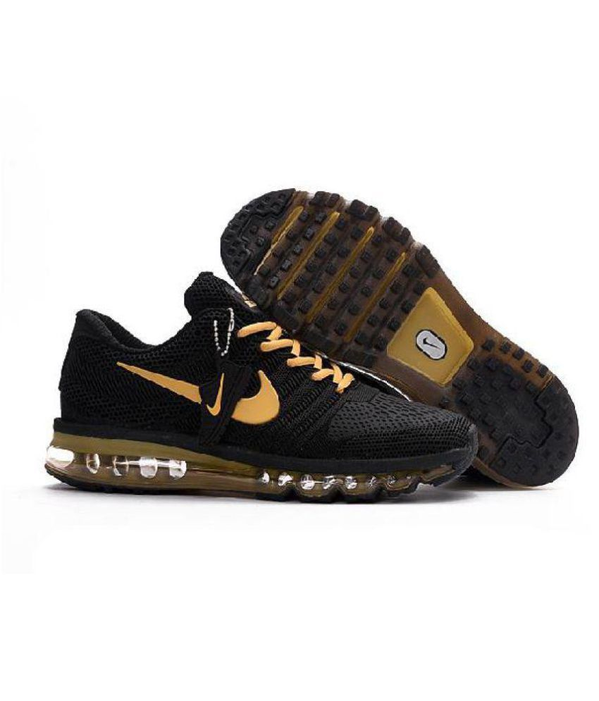 super popular ef7e9 b01c4 ... Nike Air Max 2017 Rubber Premium SP Gold Running Shoes ...