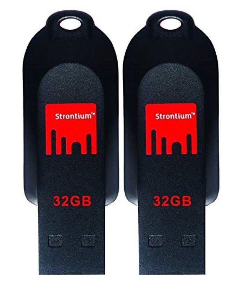 Strontium Pollex 32GB USB 2.0 Utility Pendrive Pack of 2