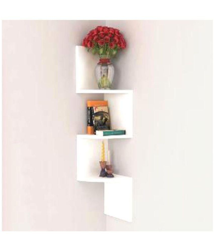 Awesome Unique Crafts Art Floating Shelves White Mdf Pack Of 1 Best Image Libraries Barepthycampuscom