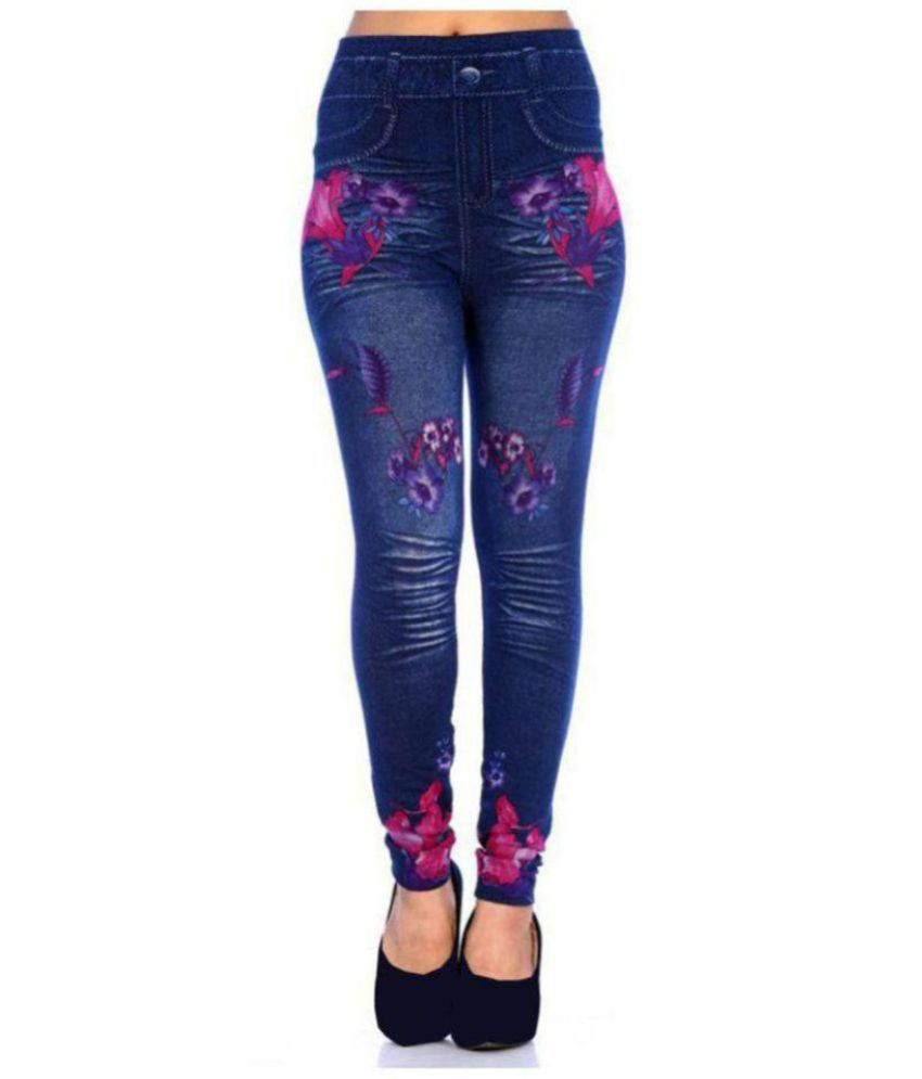 9d4333e003ba03 Buy YUGVAASTRA Denim Jeggings - Blue Online at Best Prices in India -  Snapdeal