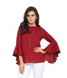 056626ed80e Maroon Tops for Women - Buy Maroon Women Tops Online at Low Prices ...