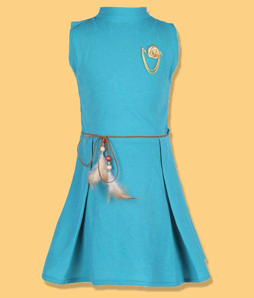 36ddcd15702 FabTag - Tiny Toon Girls Midi Knee Length Casual Dress (Light Green ...