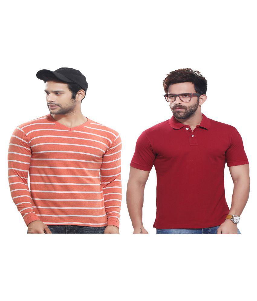 KUNDAN SULZ GWALIOR Multi Full Sleeve T-Shirt Pack of 2
