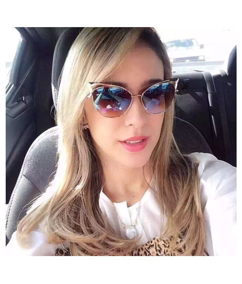Swagger cat eye metal fashion sunglasses for women glasses nice eyeglasses hollow sunglass oculos de sol Sold by ZXG