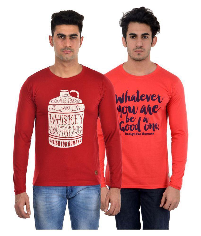 DFH Multi Full Sleeve T-Shirt Pack of 2