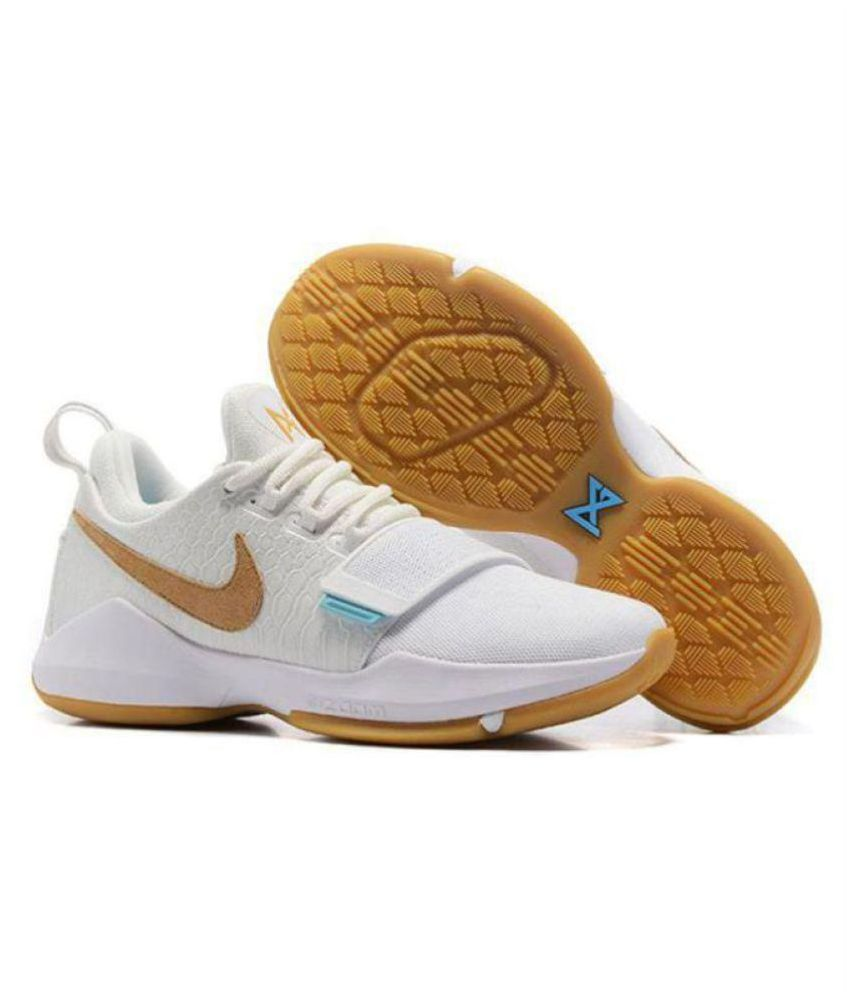 Nike PG 1 PAUL GEORGE White Basketball Shoes
